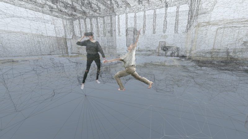 Dust_03_imagery displayed in VR headset_viewer in the immediate presence of the dancer_dancer Roman Zotov